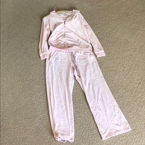 Baby pink juicy track suit.
